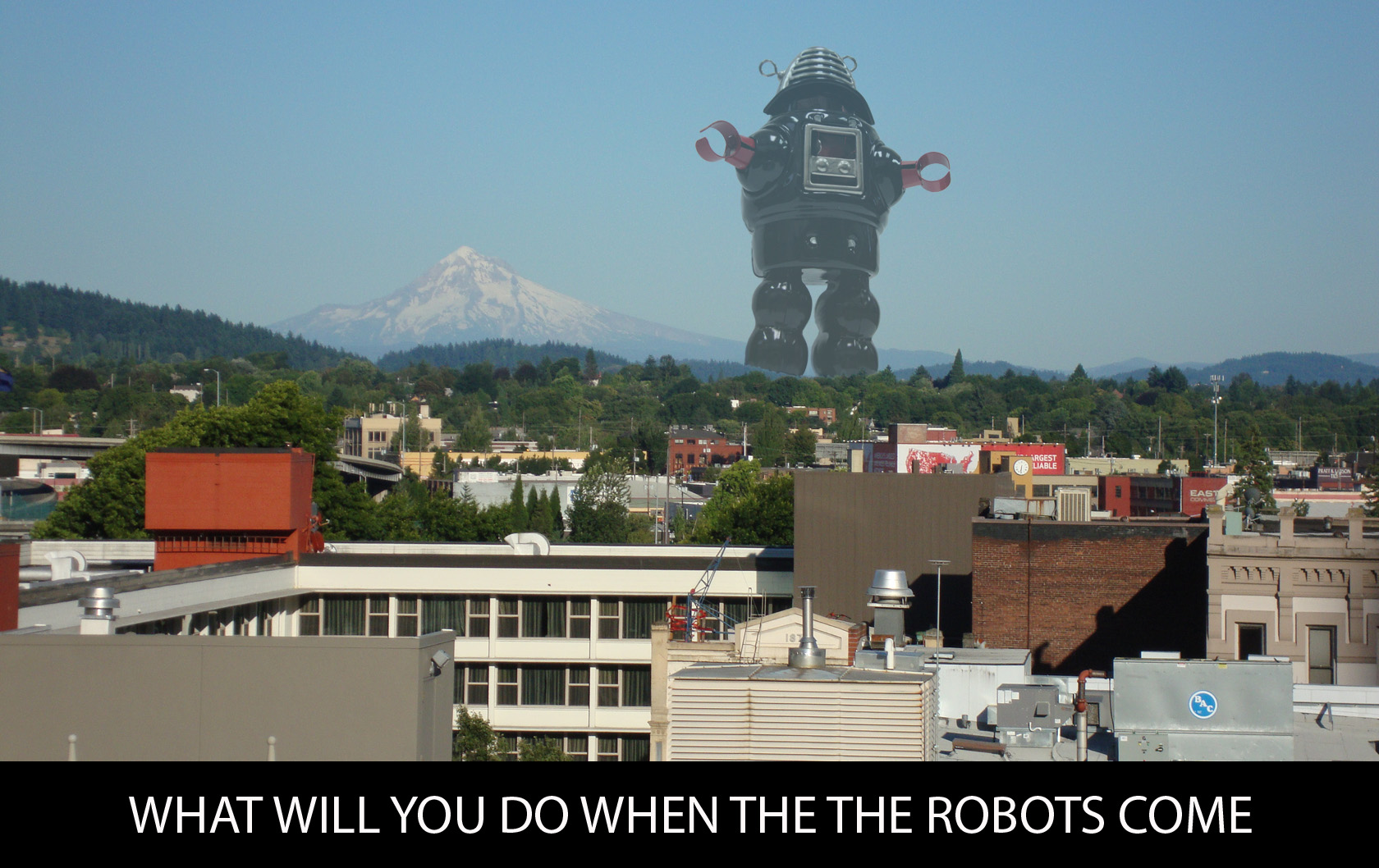 Giant Robots Attack Portland Oregon